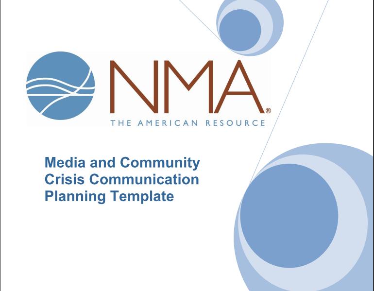 Toolkit: Crisis Communications Template - National Mining Association